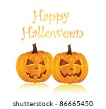 happy halloween. vector | Shutterstock .eps vector #86665450