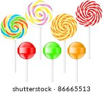 lollipops | Shutterstock .eps vector #86665513