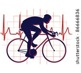 cyclist icon vector | Shutterstock .eps vector #86666836