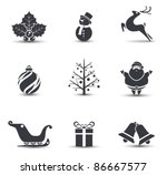 vector christmas icons. | Shutterstock .eps vector #86667577