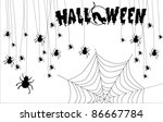 holiday halloween  pumpkin... | Shutterstock .eps vector #86667784
