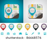 vector customizable map... | Shutterstock .eps vector #86668576