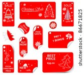 price red tag set vector for... | Shutterstock .eps vector #86671825