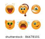 set of various vector emoticons | Shutterstock .eps vector #86678101