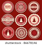 christmas label with snowflake... | Shutterstock .eps vector #86678146