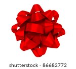 red gift bow | Shutterstock . vector #86682772