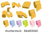 vector collection of bright... | Shutterstock .eps vector #86683060