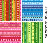 Set Of Seamless Colorful...