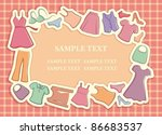lady's clothes in the form of a ...   Shutterstock .eps vector #86683537
