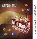 background  coffe  cake | Shutterstock .eps vector #86695966