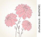 Floral Background. Vector...
