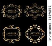 set of vintage floral frame. ... | Shutterstock .eps vector #86696593