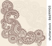 hand drawn abstract henna... | Shutterstock .eps vector #86699905