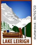 Retro Ski Poster With...