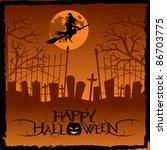 halloween background | Shutterstock .eps vector #86703775