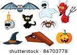 halloween icon set | Shutterstock .eps vector #86703778