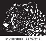 vector image of a leopard | Shutterstock .eps vector #86707948