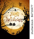 halloween illustration with... | Shutterstock .eps vector #86710477