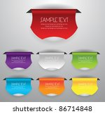 stylized colorful labels badges | Shutterstock .eps vector #86714848