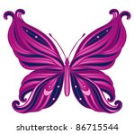 pink butterfly isolated on... | Shutterstock .eps vector #86715544