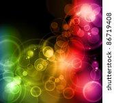 blurry lights in rainbow colors ... | Shutterstock . vector #86719408