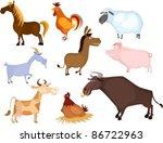 farm animal set | Shutterstock .eps vector #86722963