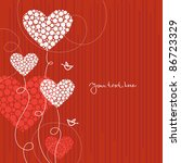 love background with abstract... | Shutterstock .eps vector #86723329