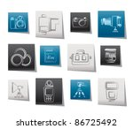photography equipment and tools ... | Shutterstock .eps vector #86725492