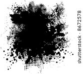 illustrated black and white ink ... | Shutterstock .eps vector #8672578