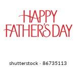 formal holiday vector lettering ... | Shutterstock .eps vector #86735113