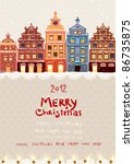 Christmas Vintage Card With Th...
