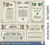 vintage style labels on... | Shutterstock .eps vector #86736895