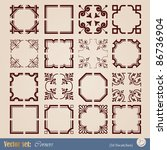 vector set: corners for decoration and design of your work