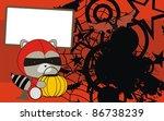 raccoon baby cartoon halloween... | Shutterstock .eps vector #86738239