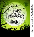 halloween illustration with... | Shutterstock .eps vector #86741026
