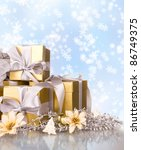 christmas gifts with decoration | Shutterstock . vector #86749375