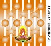 design for deepawali | Shutterstock .eps vector #86750455