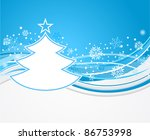 winter background with fir tree | Shutterstock .eps vector #86753998