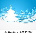 winter background with fir tree | Shutterstock .eps vector #86753998