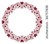 hearts frame - stock vector