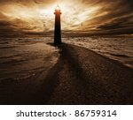 stormy sky over  lighthouse | Shutterstock . vector #86759314