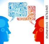 social network  communication... | Shutterstock .eps vector #86761465
