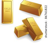 Vector Minted Gold Bars At...
