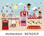 fun fair vector illustration | Shutterstock .eps vector #86762419