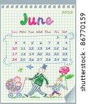 calendar for june 2012. the... | Shutterstock .eps vector #86770159