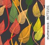 seamless foliage pattern | Shutterstock .eps vector #86772151