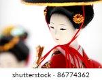 Japanese Doll White Isolated