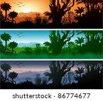 vector tropical jungle | Shutterstock .eps vector #86774677