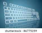 virtual keyboard in perspective ... | Shutterstock .eps vector #86775259