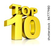 3d golden top 10 | Shutterstock . vector #86777980